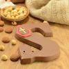 Afbeelding van Chocoladeletter melk met hazelnoot