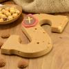 Afbeelding van Chocoladeletter salted caramel met hazelnoot