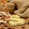 Afbeelding van Chocoladeletter wit met hazelnoot