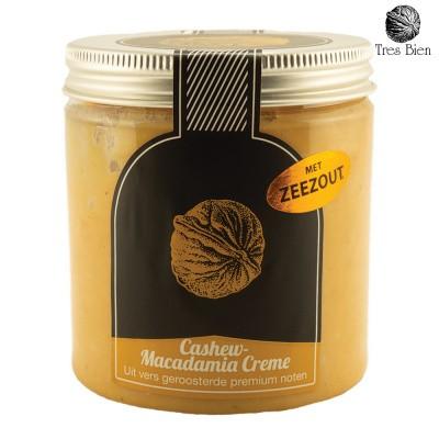 Cashew-macadamia crème met zeezout