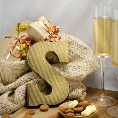 Foto van Chocoladeletter Champagne