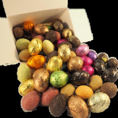 Foto van Chocolade paaseitjes gemengd