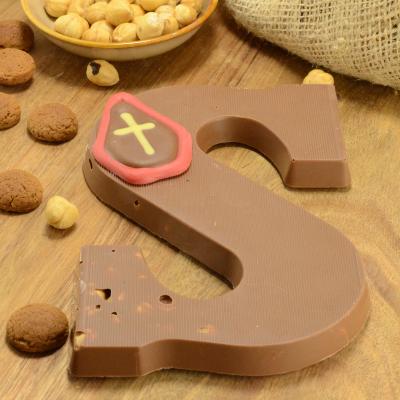 Chocoladeletter melk met hazelnoot suikervrij