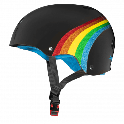 Foto van Triple 8 Certified Sweatsaver helmet - Rainbow Black