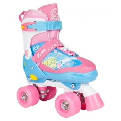 Rookie verstelbare rolschaats blauw/roze