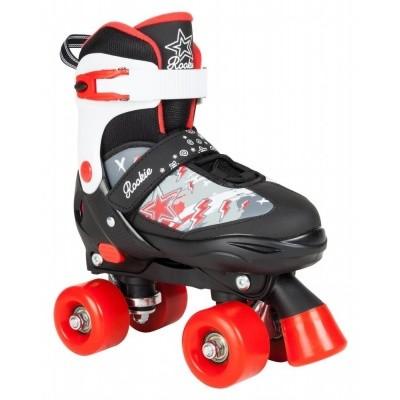 Foto van Rookie verstelbare rolschaats rood/zwart