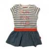 Afbeelding van B.E.S.S Baby Jurk girls striped white