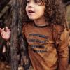 Afbeelding van Longsleeve strepen Koko Noko girls rusty brown
