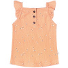 Afbeelding van Dragonfly ruffle singlet Your Wishes girls peach