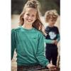 Afbeelding van Kina sweater velours Chaos&Order girls seagreen