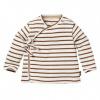 Afbeelding van Bauke overslag shirt LEVV brown almond stripe