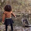 Afbeelding van Jurk strepen Koko Noko girls rusty brown/black