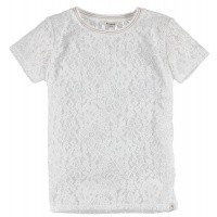 Foto van T-shirt kant Garcia girls off white