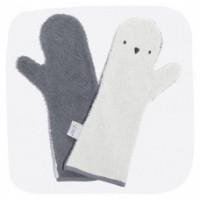 Foto van Baby shower glove pinguïn grijs/donkergrijs