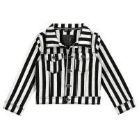 Foto van Gina spijkerjack stripe LEVV girls mini black white