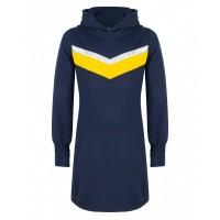 Foto van Sweat jurk hoodie IBJ girls dress blue