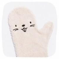 Foto van Baby shower glove bever roze