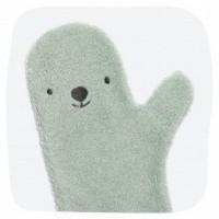Foto van Baby shower glove ijsbeer groen