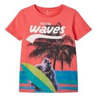 Foto van Julius t-shirt Name It kids boys calypso coral