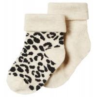 Foto van Blanquillo 2pck sokken Noppies LIMITED TO LOVE oatmeal