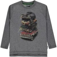 Foto van Valen shirt ls Tumble 'n dry boys kids grey melange