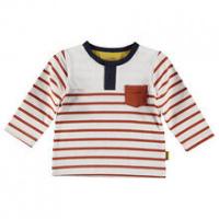 Foto van B.E.S.S Baby Shirt Henley boys white striped