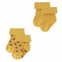 Foto van Levi 2-pck sokken Noppies honey yellow