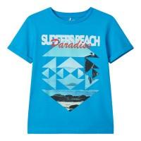 Foto van Julius t-shirt Name It kids boys hawaiian ocean