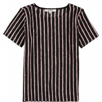 Foto van T-shirt stripe Garcia girls off black