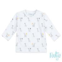 Foto van Shirt ls 'giraffe' Feetje neutraal white