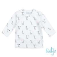 Foto van Shirt ls 'giraffe' Feetje girls white