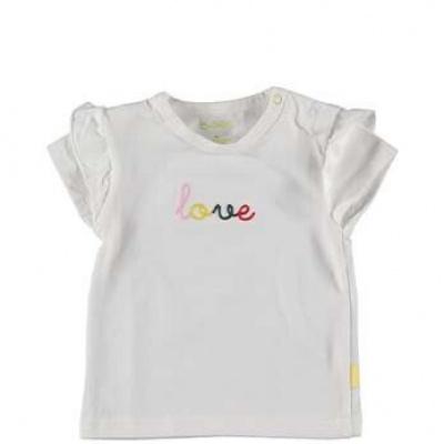 B.E.S.S Baby Shirt girls white love