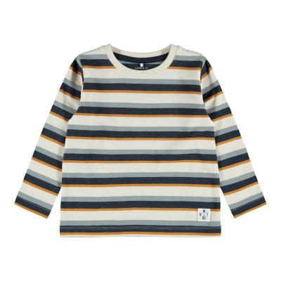 Logan longsleeve Name It mini boys whitecap grey/stripe