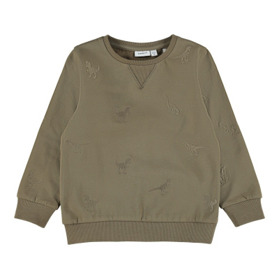 Lander sweater Name It mini boys stone gray