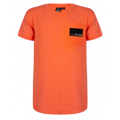 T-shirt v-neck IBJ boys bright orange