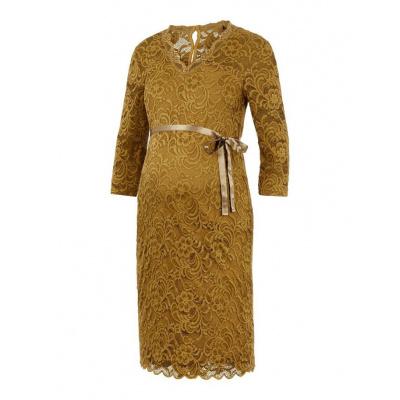 Mivana kanten jurk Mamalicious nutria