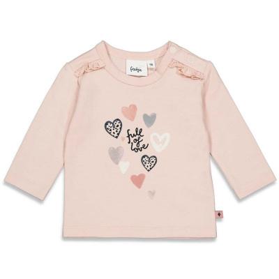 Longsleeve 'full of love' Feetje girls peach