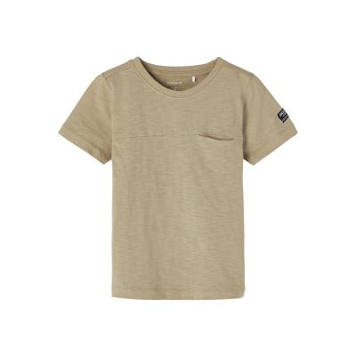 Jason t-shirt Name It mini boys silver sage