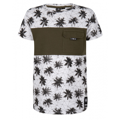 T-shirt palmtree IBJ boys white