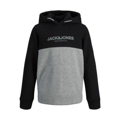 Eurban hoodie Jack&Jones boys black/white-grif