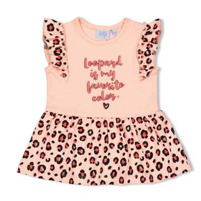 Jurk 'leopard love' Feetje girls pink
