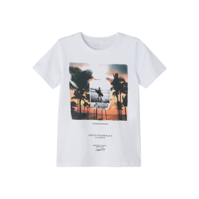 Jace Name It Kids Shirt boys bright white