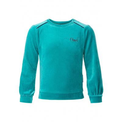 Kina sweater velours Chaos&Order girls seagreen