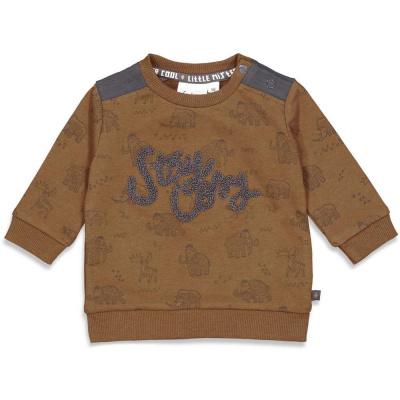 Sweater 'cool adventure' Feetje boys brown melange