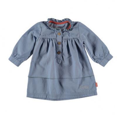 Jurk woven B.E.S.S. girls light blue