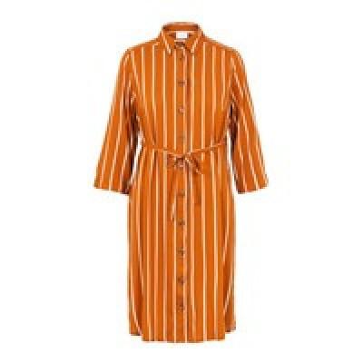 Sinem jurk Mamalicious leather brown