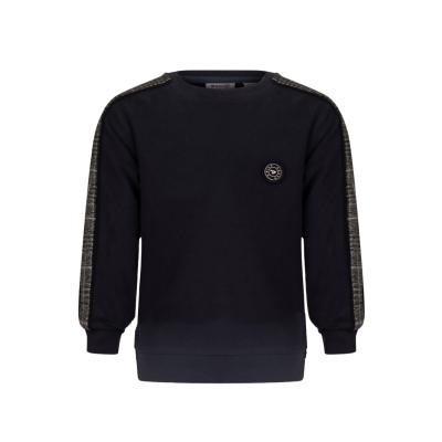 Crewneck Daily7 Sweater check sleeve boys deep navy