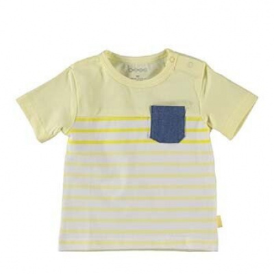 B.E.S.S Baby Shirt striped with pocket boys yellow