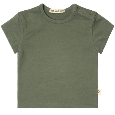 Solid loose t-shirt Your Wishes old green