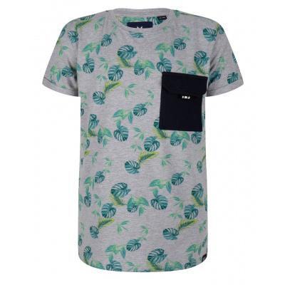 T-shirt leaves IBJ boys medium grey melange